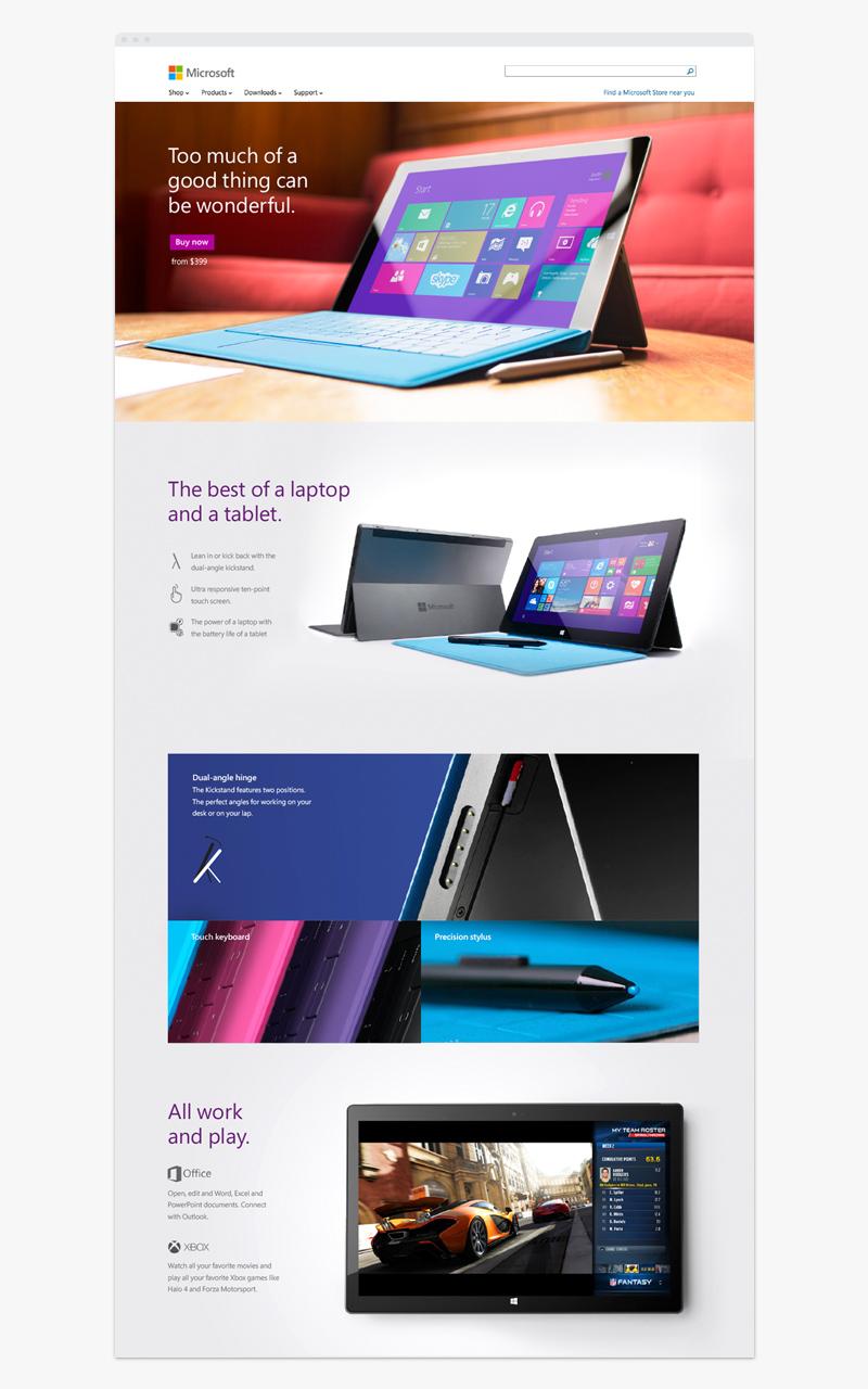Microsoft Web Mockup Mobile
