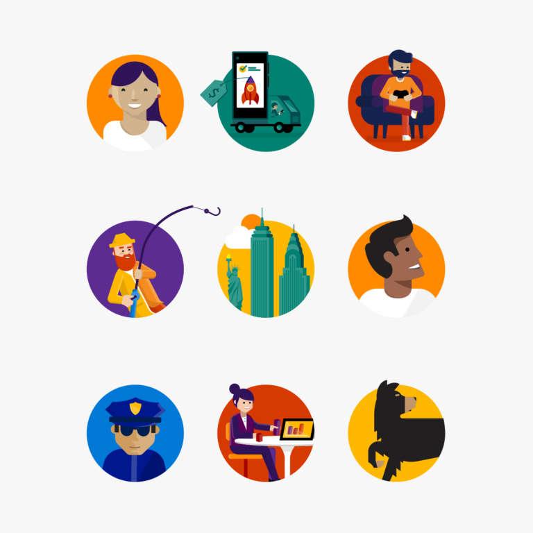 Microsoft Illustration Vignettes