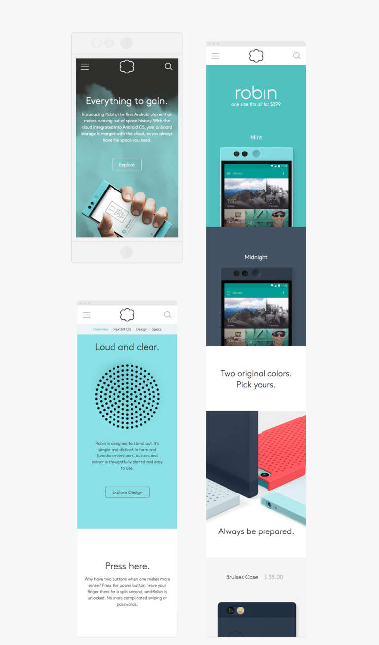 Nextbit Mobile Site V3
