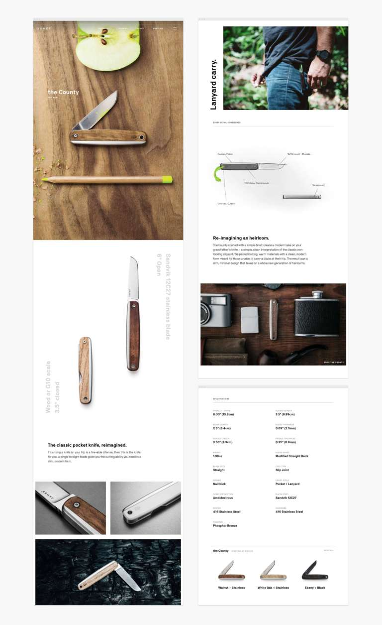 James Brand Web Mockup Product Story